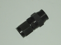 Black Straight Hose end
