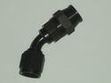 Black 45 degree Swivel Hose End