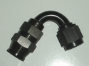 Black 120 degree Swivel hose end