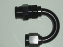 Black 180 Deg. Reusable Swivel Hose End