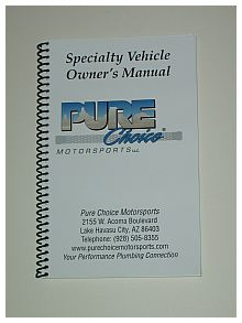 Specialty Vehicle Owners Manual