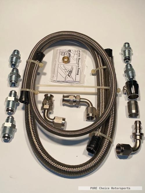GM Power Steering Braided Hose Kit